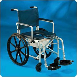 Invacare Rehab Shower/Commode Chair. 16''W x 16''D x 39''H (41 x41x 99cm) Wide Seat - Model 557671
