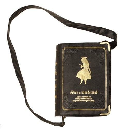 Alice in Wonderland Book Clutch/Cross Body Bag
