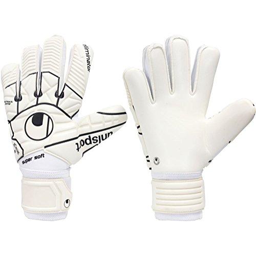 - uhlsport Mens ELIMINATOR COMFORT TEXTILE 7 Goalkeeper Gloves White For Soccer