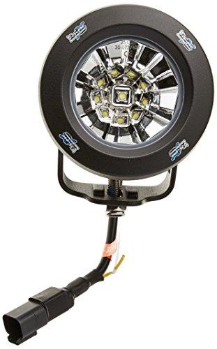 Auto Iris Dc Drive (Vision X Lighting 9141435 Optimus Black Round 10W LED Flood Light - Pair)