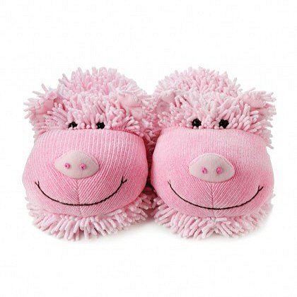 Friends Fuzzy Slippers Fuzzy Friends Pig OxPBqwgCwS