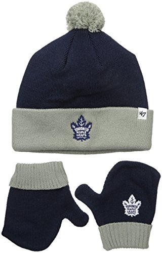 '47 NHL Toronto Maple Leafs Toddler Bam Bam Knit Hat & Mittens Set, One Size, Light ()