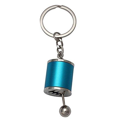 Ocamo Auto Part Model Gear Shifting Keychain Creative Keyring Key Chain Blue
