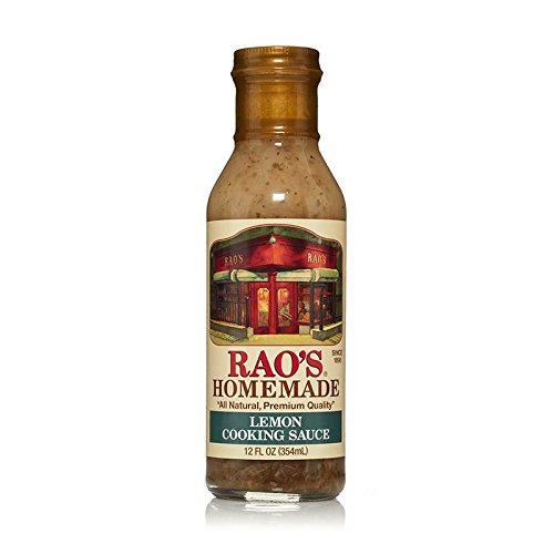 Rao's Homemade Lemon Cooking Sauce, 12 Fl Oz Bottle, 6 Pack, The Signature Seasoning Blend for Rao's Lemon Chicken, All-Natural Blend of Lemon Juice, Red Wine Vinegar, White Wine, Garlic, Herbs
