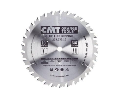 Line Rip Saw - CMT 203.030.10 Industrial Glue Line Ripping Saw Blade, 10-Inch x 30 Teeth 1FTG+FTG Grind with 5/8-Inch. Bore