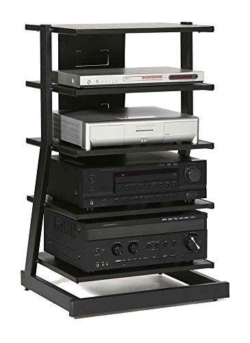 (Audio Stand w 5 Shelves in Black Oak Finish by Plateau)