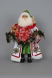 Karen Didion Lighted Holly Sparkle Santa