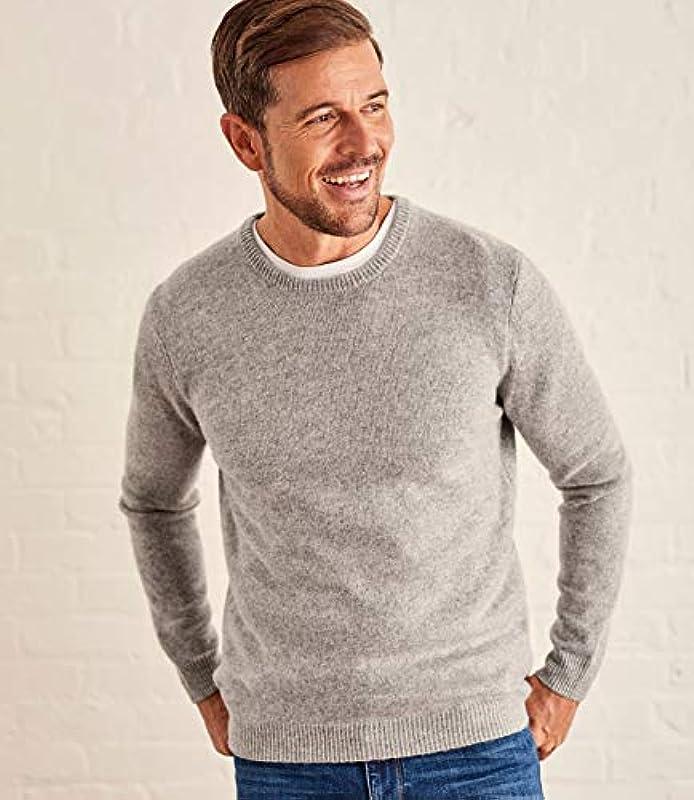 Wool Overs Lambswool sweter z okrągłym kołnierzem - męski (Lambswool) - L1: Odzież