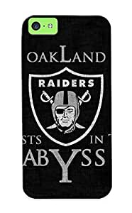 meilinF000Iphone 5c Ikey Case Cover Skin : Premium High Quality Oakland Raiders Nfl Football Dark Skull Case(nice Choice For New Year's Day's Gift)meilinF000
