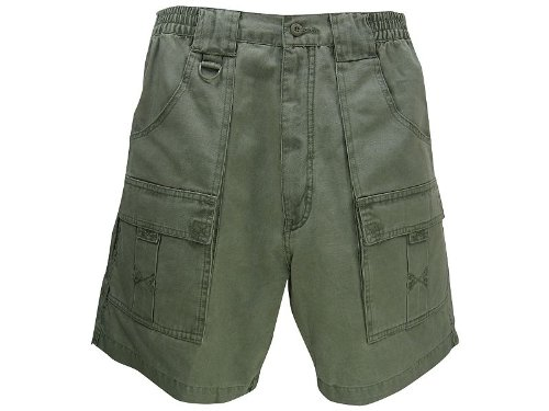 Hook & Tackle® Men's Beer Can Cargo Short 36 Olive by Hook & Tackle®