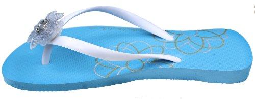 Infradito Da Spiaggia Donna Brillante Medaglioni Blu / Bianco