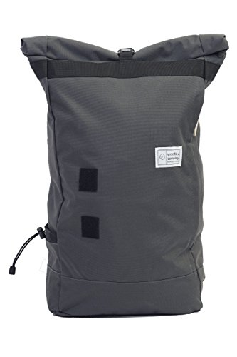 Commuter Roll Top Backpack Weekend Travel Bag | Slate Gray by Unsettle&Company, LLC.