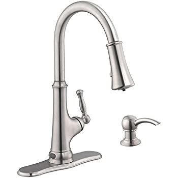 Touchless Single Handle Pull Down Sprayer Kitchen Faucet