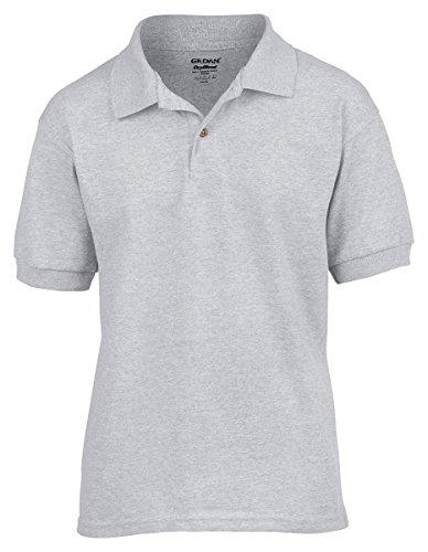 Gildan DryBlend Youth 5.6 oz., 50/50 Jersey Polo, Small, SPORT GREY