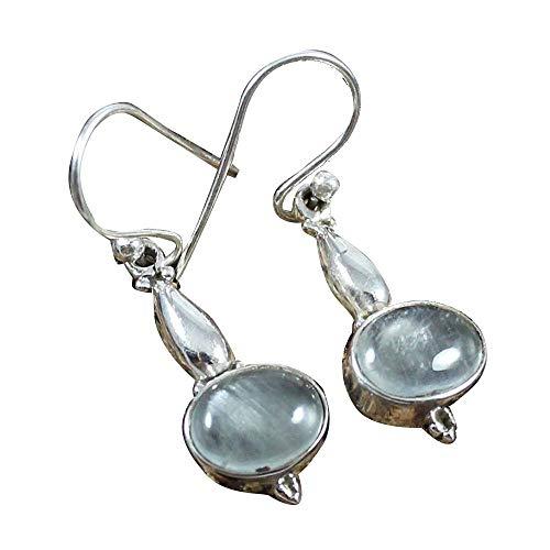 Chalcedony Earrings, Amethyst Earrings, 925 Sterling Silver Earrings for Womens, Garnet Earrings, Blue Topaz Earrings, Lapis Earrings, Mother of Pearl Earrings, Turquoise Earrings Sterling ()