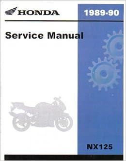 61ky702 1988-1990 honda nx125 motorcycle repair workshop service manual:  manufacturer: amazon com: books