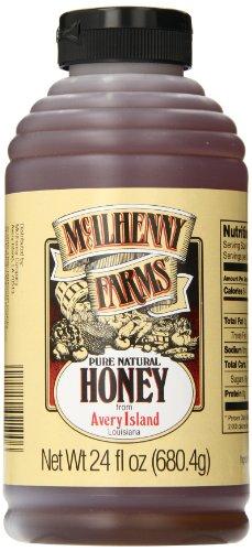 Tabasco Mcilhenny Farms Pure Natural Honey, 24 Ounce (Louisiana Tabasco Avery Island)