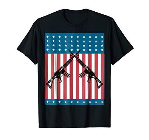 AR 15 5.56 .223 Gun American Flag Shirt