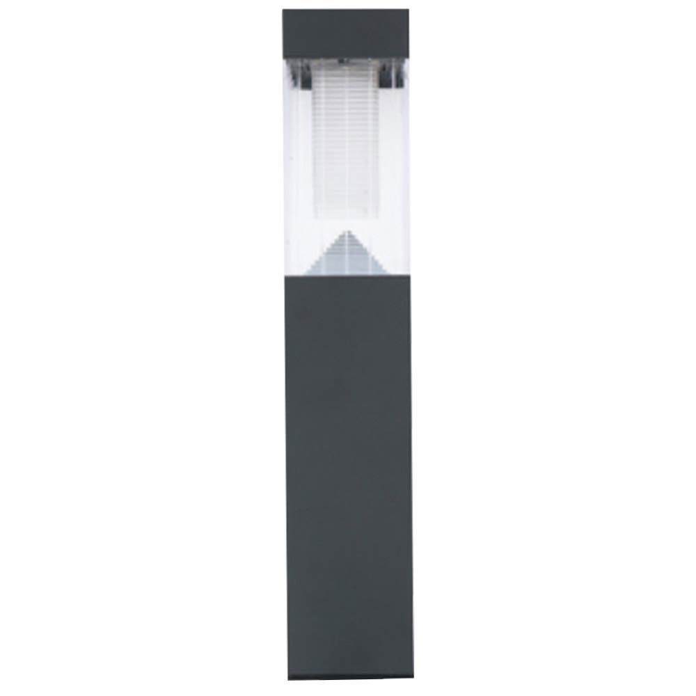Juego de 3 l/ámparas de jard/ín de carga solar dimensiones 52,5 x 6,5 cm Bakaji color gris oscuro tecnolog/ía 2 LED luz blanca con sensor crepuscular y estaca postes solares de acero