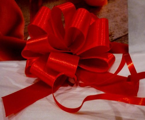Red Satin Christmas Pull Bows - 4