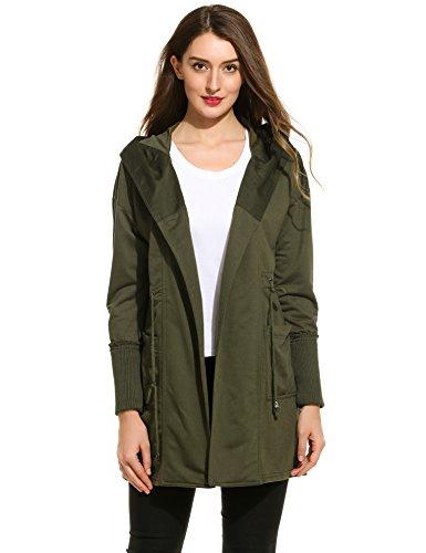 Zeagoo Women's Versatile Military Hooded Jackets Coats with Drawstring 41A2H8xk8AL