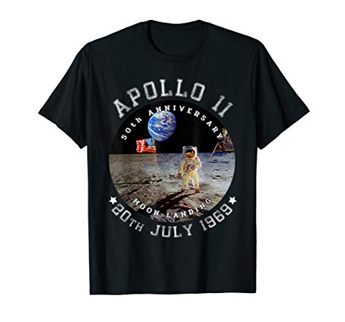 - apollo 11 50th anniversary moon landing T-Shirt
