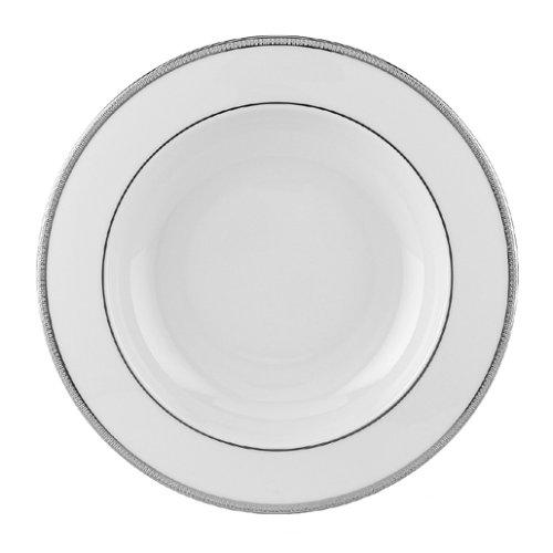 Lenox Tuxedo Platinum Ivory China Pasta Bowl/Rim (Fine China Rimmed Soup Bowl)