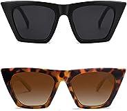SOJOS Retro Square Cateye Polarized Women Sunglasses Trendy Style BELLA SJ2115