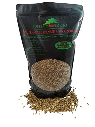 Traditional Japanese Bonsai Soil Mix - Professional Sifted and Ready to Use Tree Potting Blend in Easy Zip Bag - Kiryu, Akadama & Hyuga Pumice (2.5 Dry Quart)