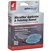 AutoRight C800884 Microfiber Bonnets, 4-Inch by AutoRight