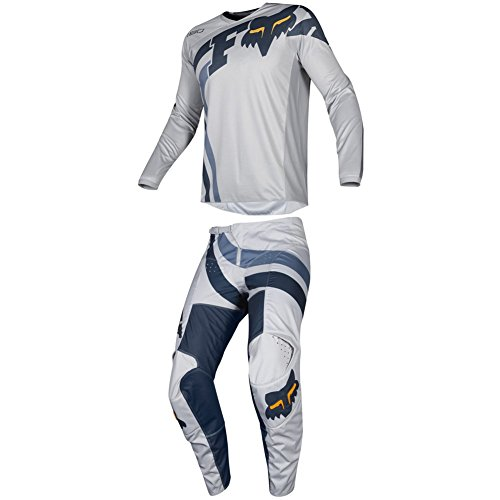Fox Racing 2019 180 COTA Jersey and Pants Combo Offroad Gear Set Adult Mens Gray/Navy Small Jersey/Pants 30W