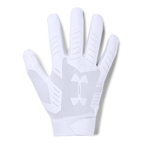 Under Armour Men's F6 Football Gloves, White (100)/Aluminum, Large