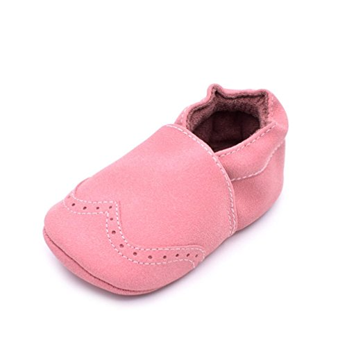 Gotd Newborn Baby Boy Girl Grib Shoes Soft Sole Toddler Shoes (S: 0~6 Months, Pink)
