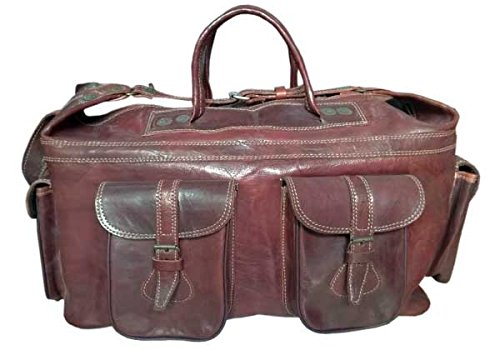 Traveling Bag Genuine Cow Leather Hand Made Large Capacity Luggage BOX Bag