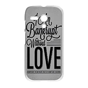 Motorola G Cell Phone Case White Bankrupt Love D3N6WY