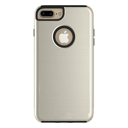 Meimeiwu Hohe Qualität TPU Bumper Case Kratzfeste Schlanke Handyhülle für iPhone 7 Plus - Gold