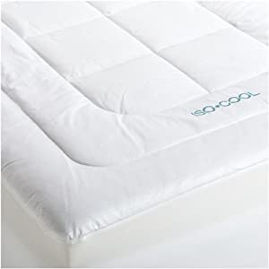 isocool memory foam mattress topper with outlast cover full