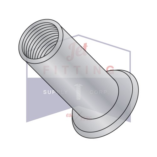 3/8-16-.115 Large Flange Blind Threaded Inserts (Rivet Nut)   Aluminum Alloy #5056   Open End   NON-RIBBED   Cleaned and Polished (QUANTITY: 1000)