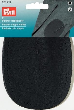 Prym Patches Nappa Leather for Sewing on 14x10 cm Dark Blue