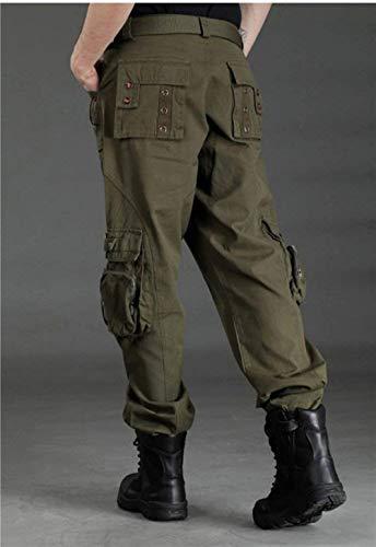 Camouflage Pants Lanceyy Unisexe Alpinisme Style Trekking Simple Cargo Combat Camping Outdoor Multifonctions Armée Pantalon Armeegrün aaqIU