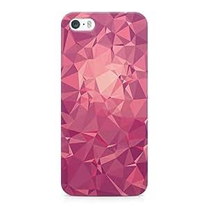 Loud Universe Geometrical Pattern Light Weight Modern Wrap Around iPhone 5s Case - Pink