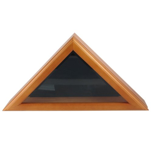 oak flag display case 3x5 - 3