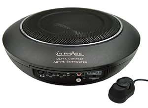 In Phase USW10 - Subwoofer activo para coche (300 W, con mando a distancia y juego de cables)