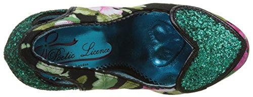 Licence Choice Loren Donna Col By Irregular Punta Love Poetic green Tacco N black Scarpe Chiusa Nero dtnwaqgnP