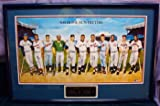 500 Home Run Signed Mantle Williams Aaron Poster Psadna Mlb w/ Nameplate Rare 11 Members W/inscriptions 42x29 Framed