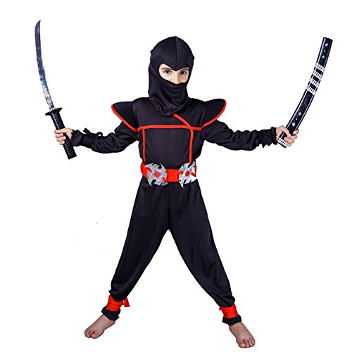 flatwhite Ninja Children's Costumes (4-6 Years, Black)]()