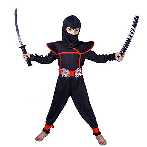 flatwhite Ninja Children's Costumes (4-6 Years, Black) ()
