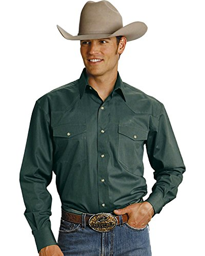 Roper Green - Roper Men's Amarillo Collection Western Shirt Hunter Green XX-Large