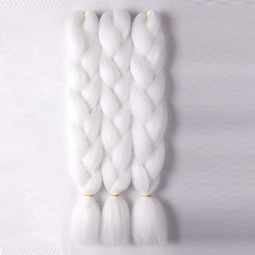 Jumbo Braiding White Kanekalon Synthetic product image