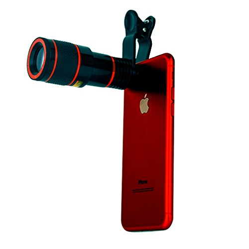 Generic Phone Camera Lens 12X Phone Telescope Zoom Lens with Adapter for Iphone,Samsung,Huawei,Sony and More …
